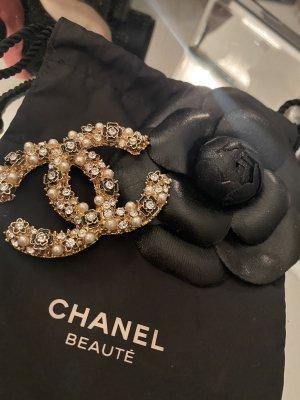 Chanel Spilla nero-oro