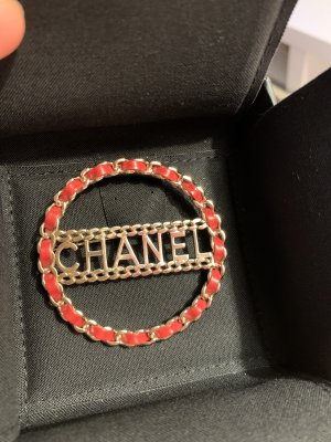 Chanel Brooch gold-colored-red