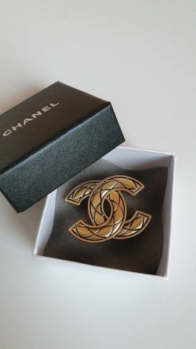 Chanel Brooch gold-colored-black metal