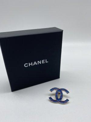 Chanel Broche bleu foncé-doré