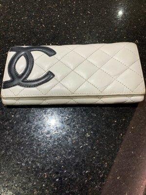 Chanel Portemonnee wit-zwart Leer