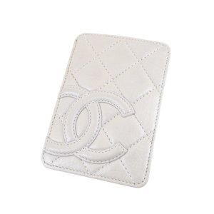 Chanel Tarjetero blanco Cuero