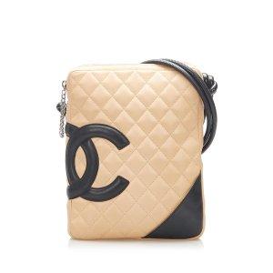 Chanel Bandolera beige Cuero