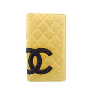 Chanel Portemonnee beige Leer