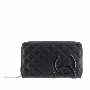 Chanel Cambon Ligne Lambskin Long Wallet