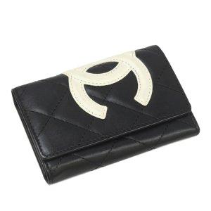 Chanel Cambon Ligne Leather Key Holder