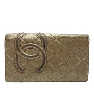 Chanel Portemonnee brons Leer