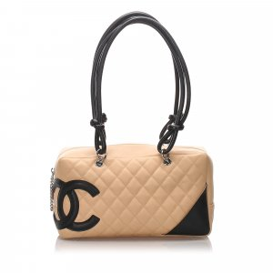 Chanel Sac à main beige cuir