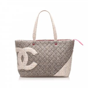 Chanel Cambon Ligne Tweed Tote Bag