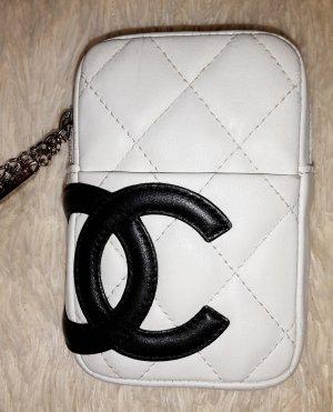 Chanel Cambon Minibag weiss schwarz Leder sehr gut