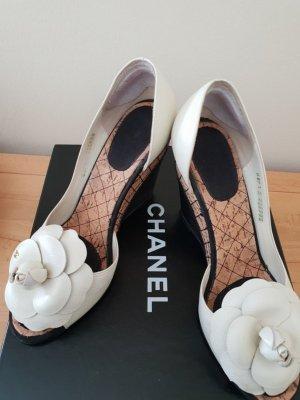 Chanel Pumps met sleehak veelkleurig