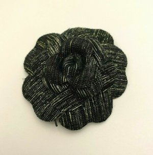 Chanel Broche negro Algodón