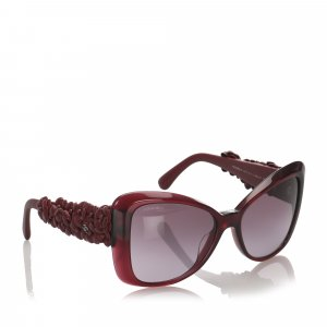 Chanel Sunglasses dark red
