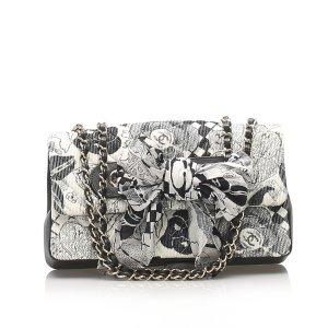 Chanel Camellia Cotton Shoulder Bag