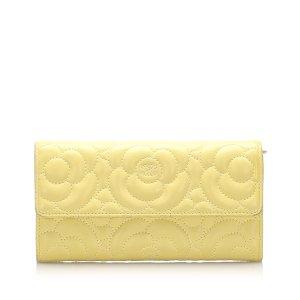 Chanel Camellia Lambskin Leather Flap Wallet