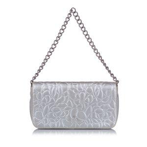 Chanel Camellia Lambskin Leather Handbag