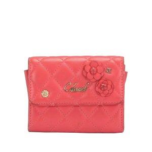 Chanel Portefeuille rosé cuir