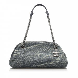 Chanel Camellia Mademoiselle Denim Shoulder Bag