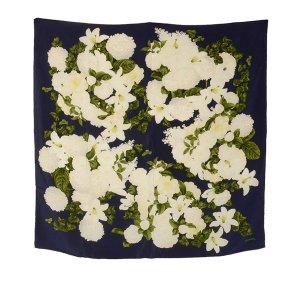 Chanel Bufanda azul Seda