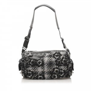 Chanel Camellia Tweed Shoulder Bag