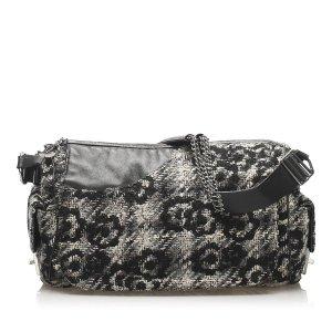 Chanel Camellia Tweed Shoulder Bag