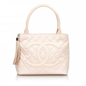 Chanel Canvas Medallion Tote Bag