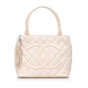 Chanel Canvas Medallion Tote Bag