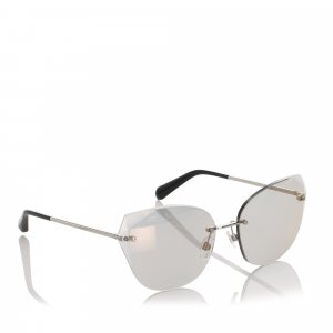 Chanel Cat Eye Mirror Sunglasses