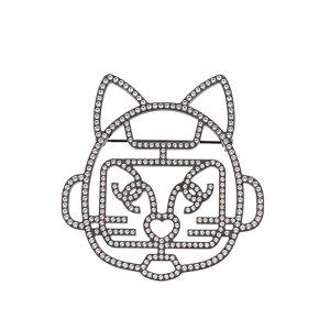 Chanel Broche noir métal