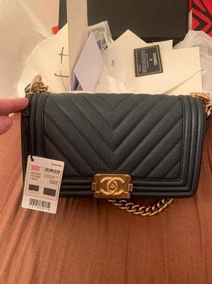 Chanel Caviar Boy Bag blau mit gold