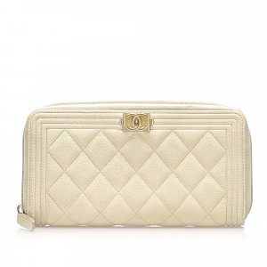 Chanel Wallet white leather