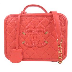 Chanel Caviar CC Filigree Vanity Case