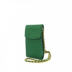 Chanel Mini Bag green leather
