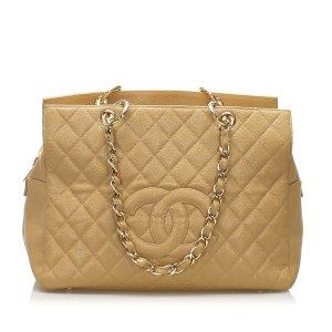 Chanel Caviar Leather Shopping Bag Tote Bag