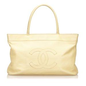 Chanel Tote beige Leer