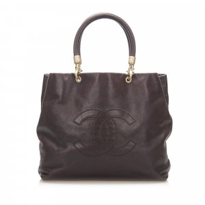 Chanel Tote dark brown leather