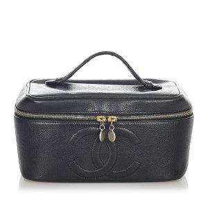 Chanel Cosmeticabox zwart Leer