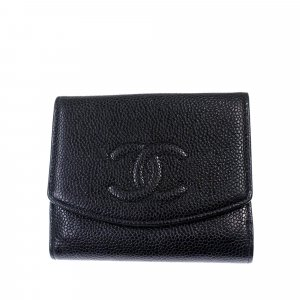 Chanel Wallet black leather