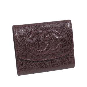 Chanel Portmonetka ciemnobrązowy Skóra