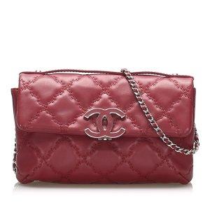 Chanel Torba na ramię czerwony Skóra