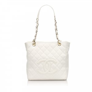 Chanel Sac fourre-tout blanc cuir
