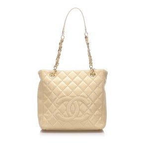 Chanel Sac fourre-tout beige cuir