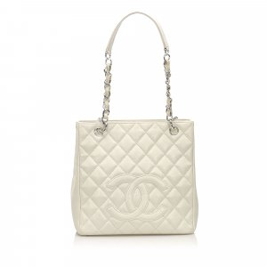 Chanel Tote white leather