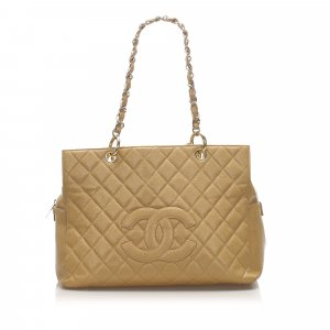Chanel Caviar Petite Timeless Shopping Tote Bag