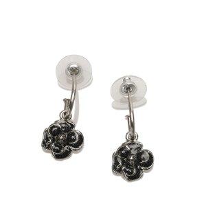 Chanel CC Camellia Drop Earrings