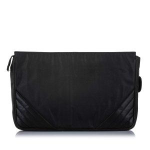 Chanel CC Canvas Clutch Bag