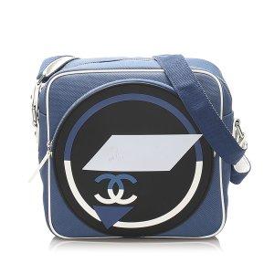 Chanel Gekruiste tas blauw