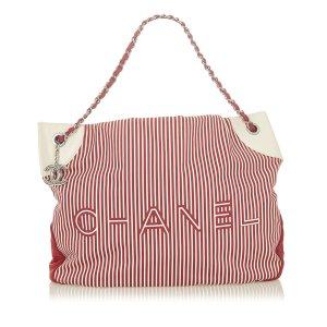 Chanel Sac fourre-tout rouge