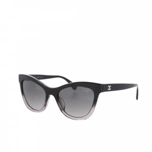 Chanel CC Cat Eye Tinted Sunglasses