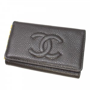 Chanel CC Caviar Key Holder